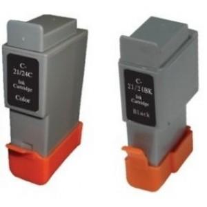 Canon BCI-21BK/BCI-24BK съвместима черна мастилена касета GraphicJet