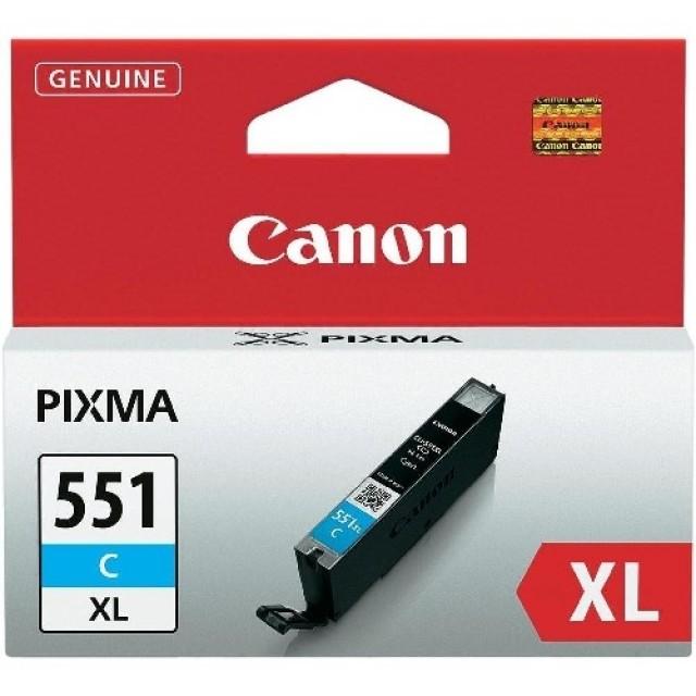 Canon CLI-551XLC синя мастилена касета
