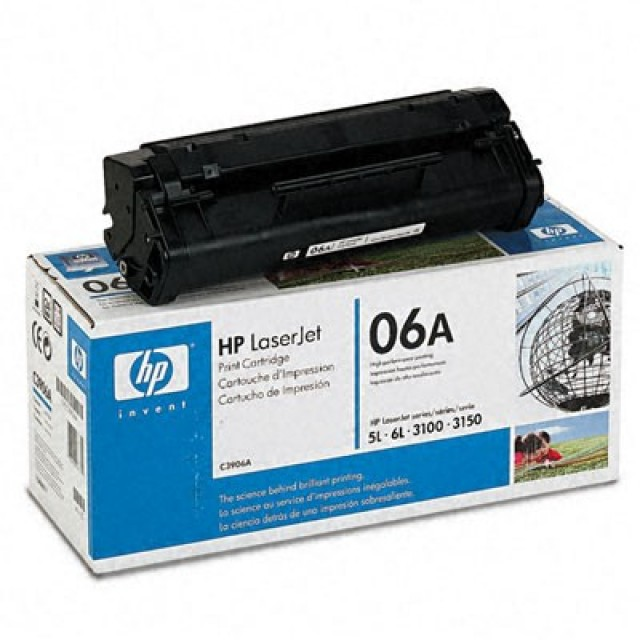 HP C3906A оригинална черна тонер касета 06A