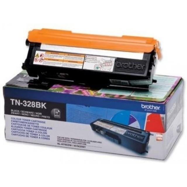 Brother TN-328BK оригинална черна тонер касета