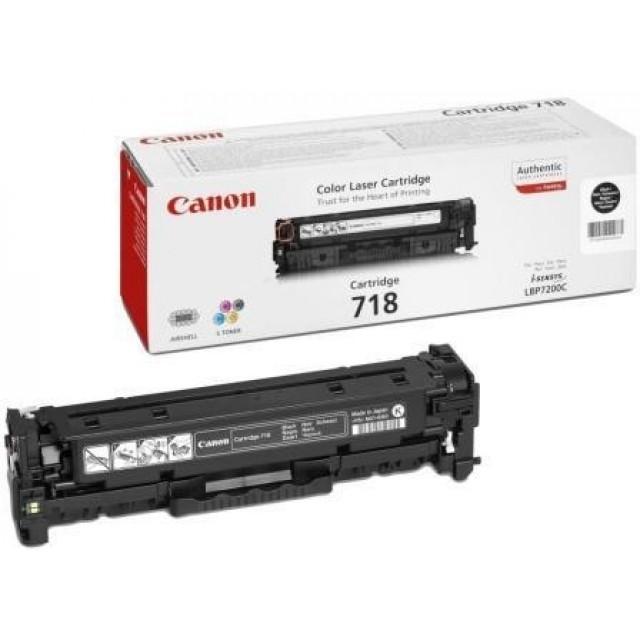 Canon CRG-718B оригинална черна тонер касета