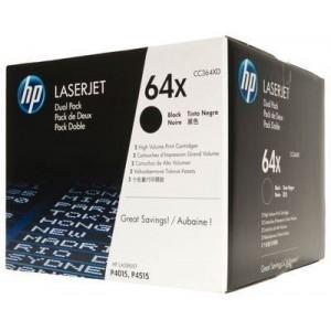 HP CC364XD двоен пакет оригинални черни тонер касети 64X