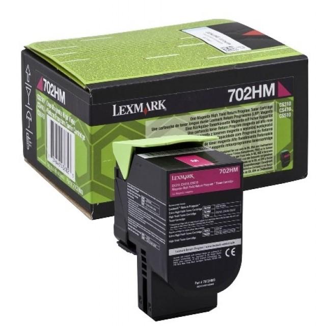 Lexmark 70C2HM0 оригинална червена тонер касета (Return Program)