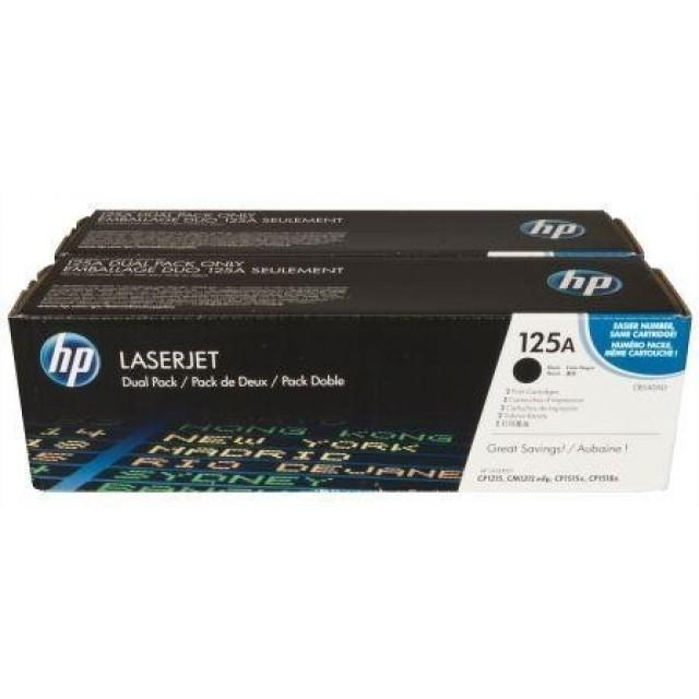 HP CB540AD двоен пакет оригинални черни тонер касети 125А