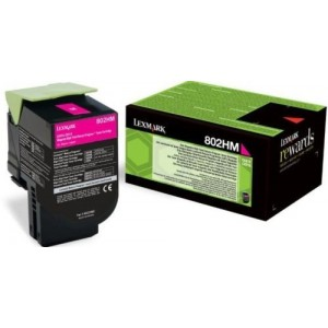 Lexmark 80C2HM0 оригинална червена тонер касета (Return Program)