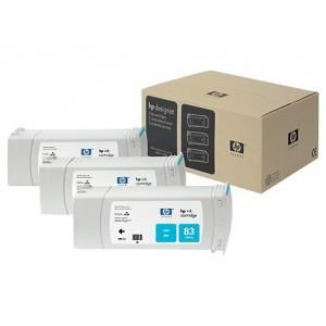 HP C5073A пакет 3 сини UV мастилени касети 83