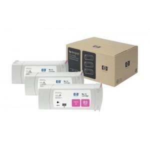 HP C5074A пакет 3 червени UV мастилени касети 83