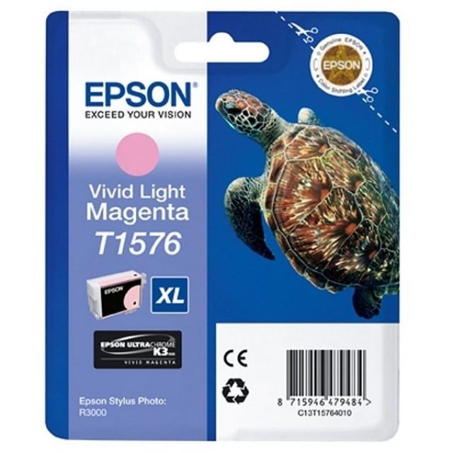 Epson T1576XL ярко светлочервена мастилена касета