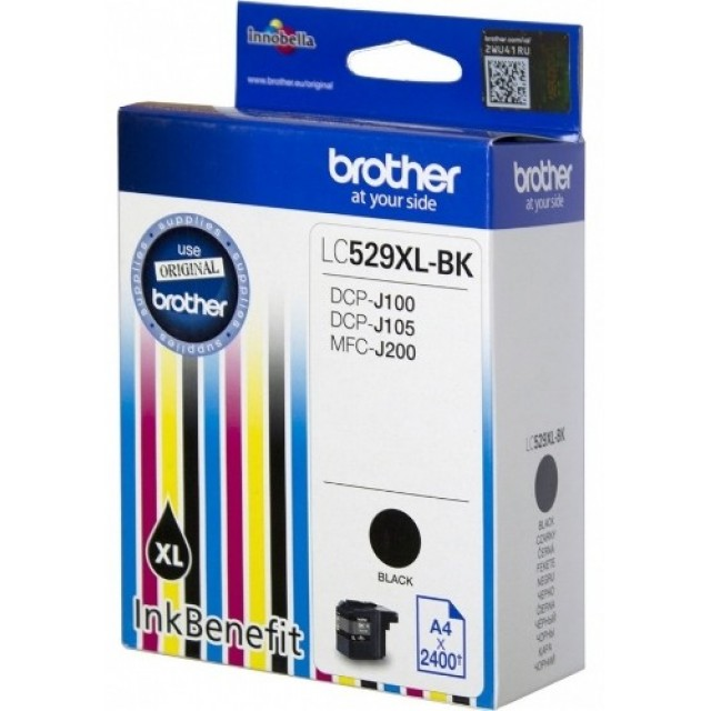 Brother LC-529XLBK черна мастилена касета