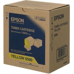 Epson C13S050590 оригинална жълта тонер касета