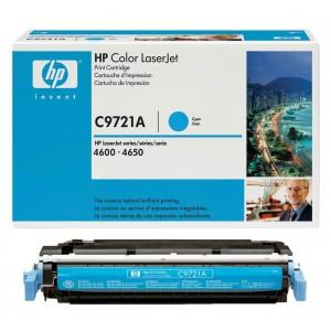 HP C9721A оригинална синя тонер касета 641A
