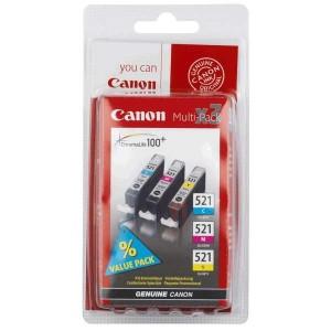 Canon CLI-521C/M/Y комплект мастилени касети
