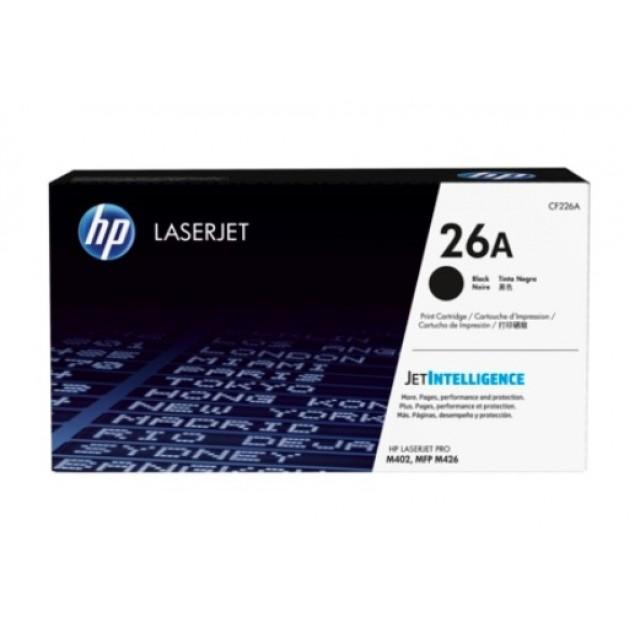 HP CF226A оригинална черна тонер касета 26A