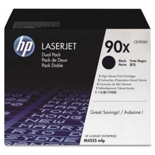 HP CE390XD двоен пакет оригинални черни тонер касети 90X