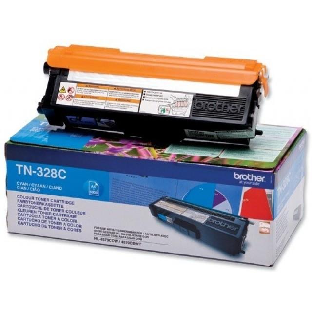 Brother TN-328C оригинална синя тонер касета