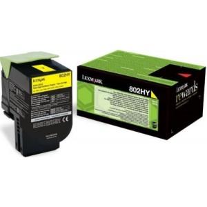 Lexmark 80C2HY0 оригинална жълта тонер касета (Return Program)