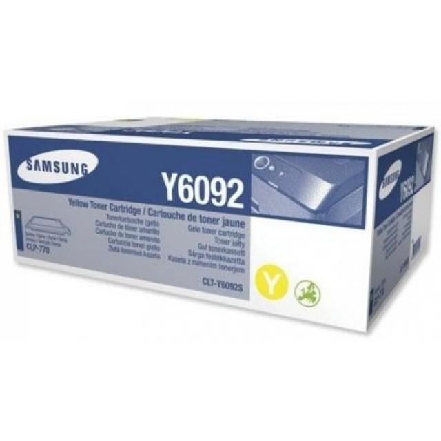 Samsung CLT-Y6092S оригинална жълта тонер касета