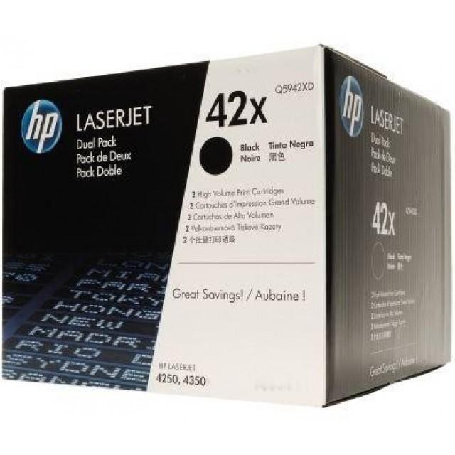 HP Q5942XD двоен пакет оригинални черни тонер касети 42X