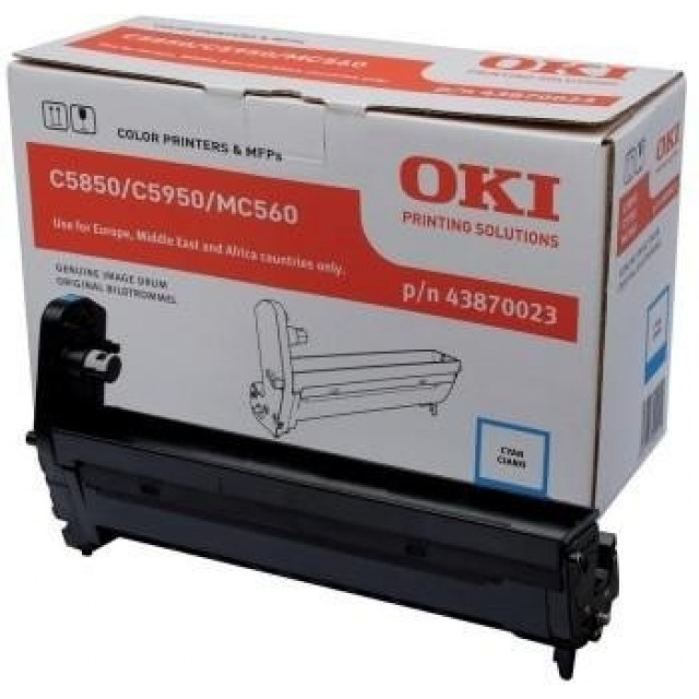OKI 43870023 оригинален син барабанен модул