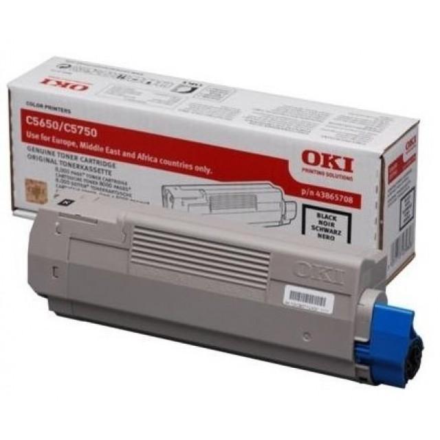 OKI 43865708 оригинална черна тонер касета за C5650/C5750