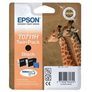 Epson T0711H двоен пакет черни мастилени касети