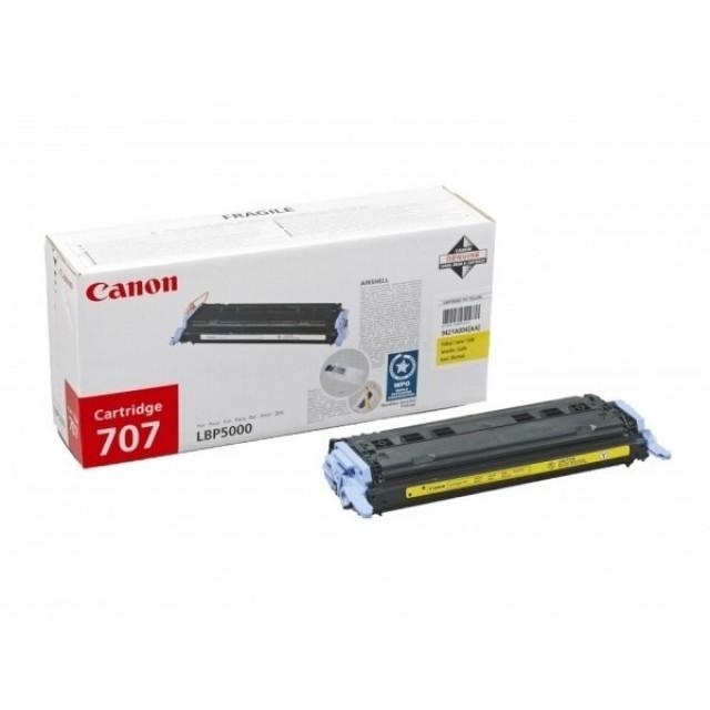 Canon CRG-707Y оригинална жълта тонер касета