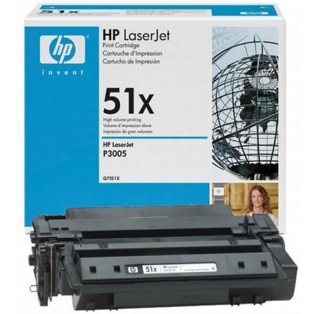 HP Q7551X оригинална черна тонер касета 51X