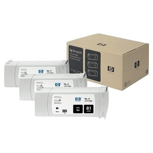 HP C5066A пакет 3 черни мастилени касети 81