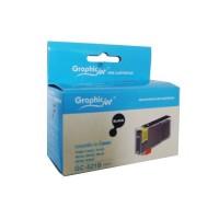 Canon CLI-521BK съвместима черна мастилена касета GraphicJet