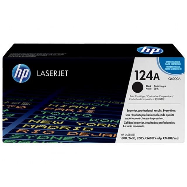HP Q6000A оригинална черна тонер касета 124A