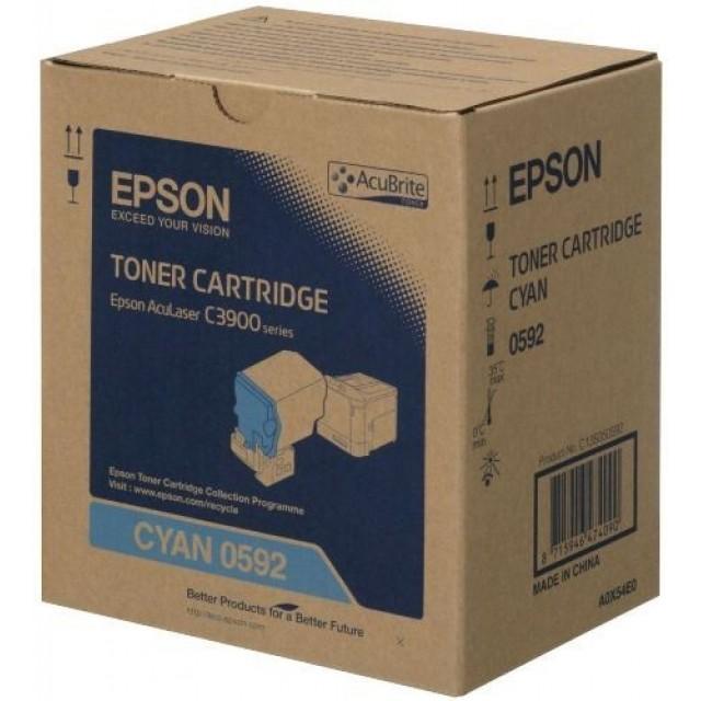 Epson C13S050592 оригинална синя тонер касета