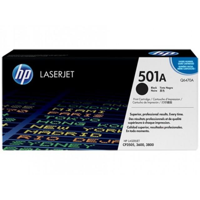 HP Q6470A оригинална черна тонер касета 501A