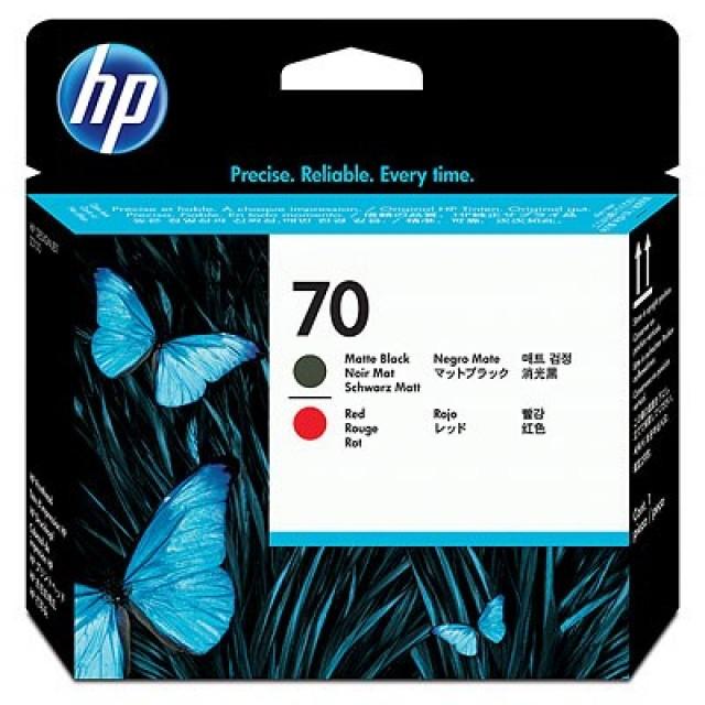 HP C9409A черен мат и червенa печатаща глава 70