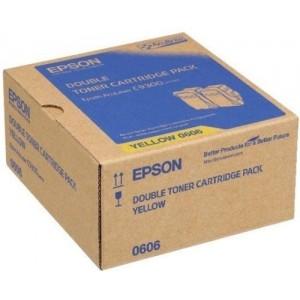 Epson C13S050606 двоен пакет оригинални жълти тонер касети