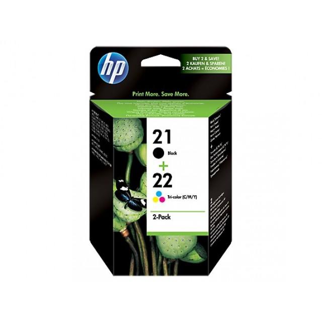 HP SD367AE черна и трицветна мастилени касети 21/22