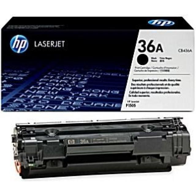 HP CB436A оригинална черна тонер касета 36A