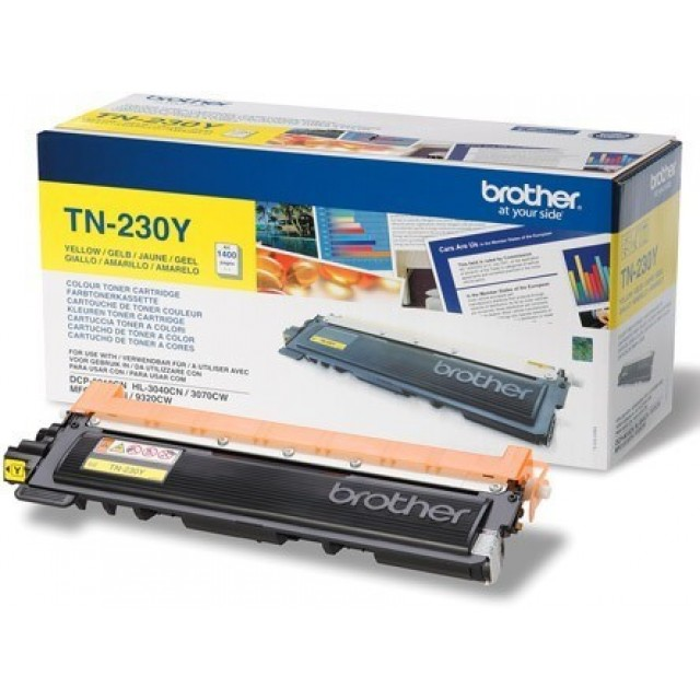 Brother TN-230Y оригинална жълта тонер касета