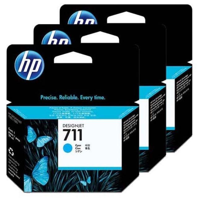 HP CZ134A пакет 3 сини мастилени касети 711