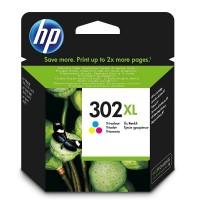 HP F6U67AE трицветна мастилена касета 302XL