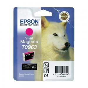 Epson T0963 яркочервена мастилена касета