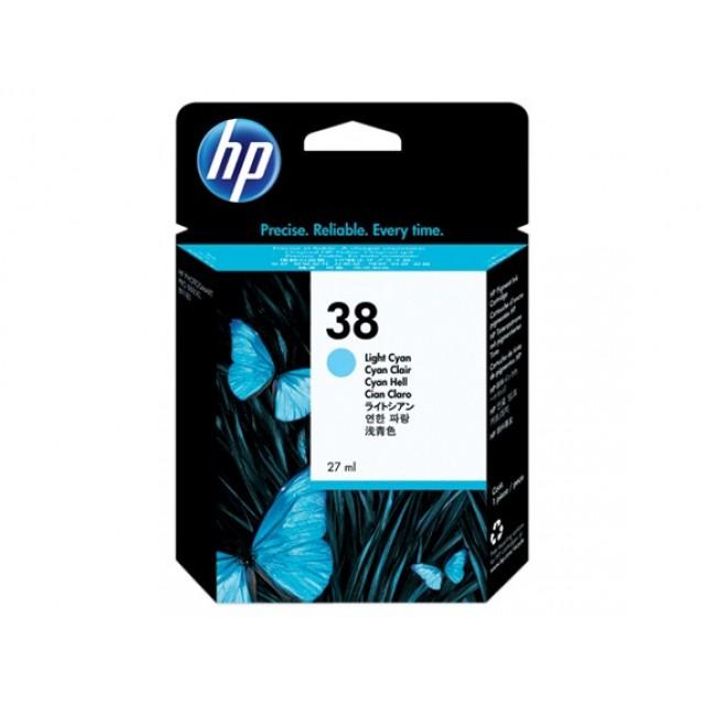 HP C9418A светло синя мастилена касета 38