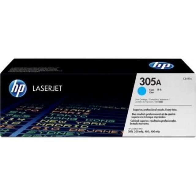HP CE411A оригинална синя тонер касета 305A
