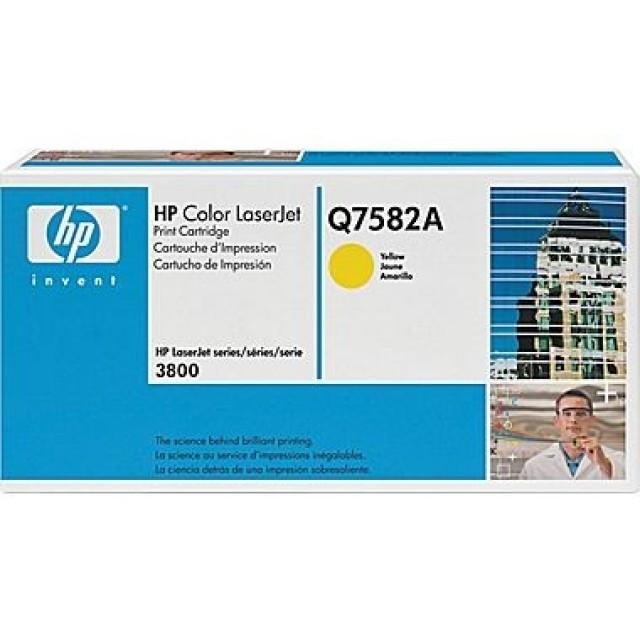HP Q7582A оригинална жълта тонер касета 503A