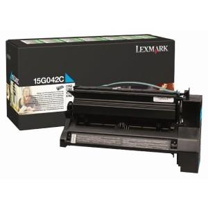 Lexmark 15G042C оригинална синя тонер касета (Return Program)