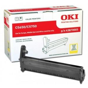 OKI 43870005 оригинален жълт барабанен модул за C5650/C5750