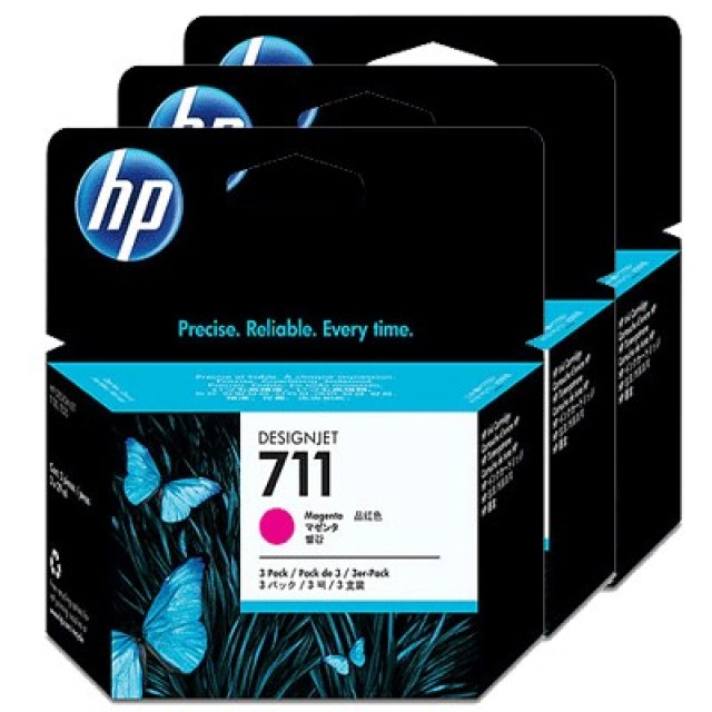 HP CZ135A пакет 3 червени мастилени касети 711