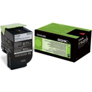 Lexmark 80C2HK0 оригинална черна тонер касета (Return Program)