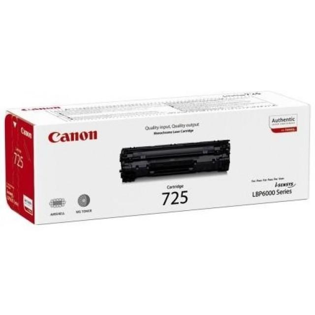 Canon CRG-725 оригинална черна тонер касета
