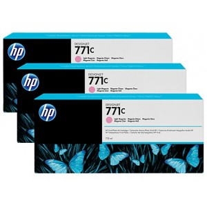 HP B6Y35A пакет 3 светло червени мастилени касети 771C