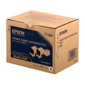 Epson C13S050594 двоен пакет оригинални черни тонер касети